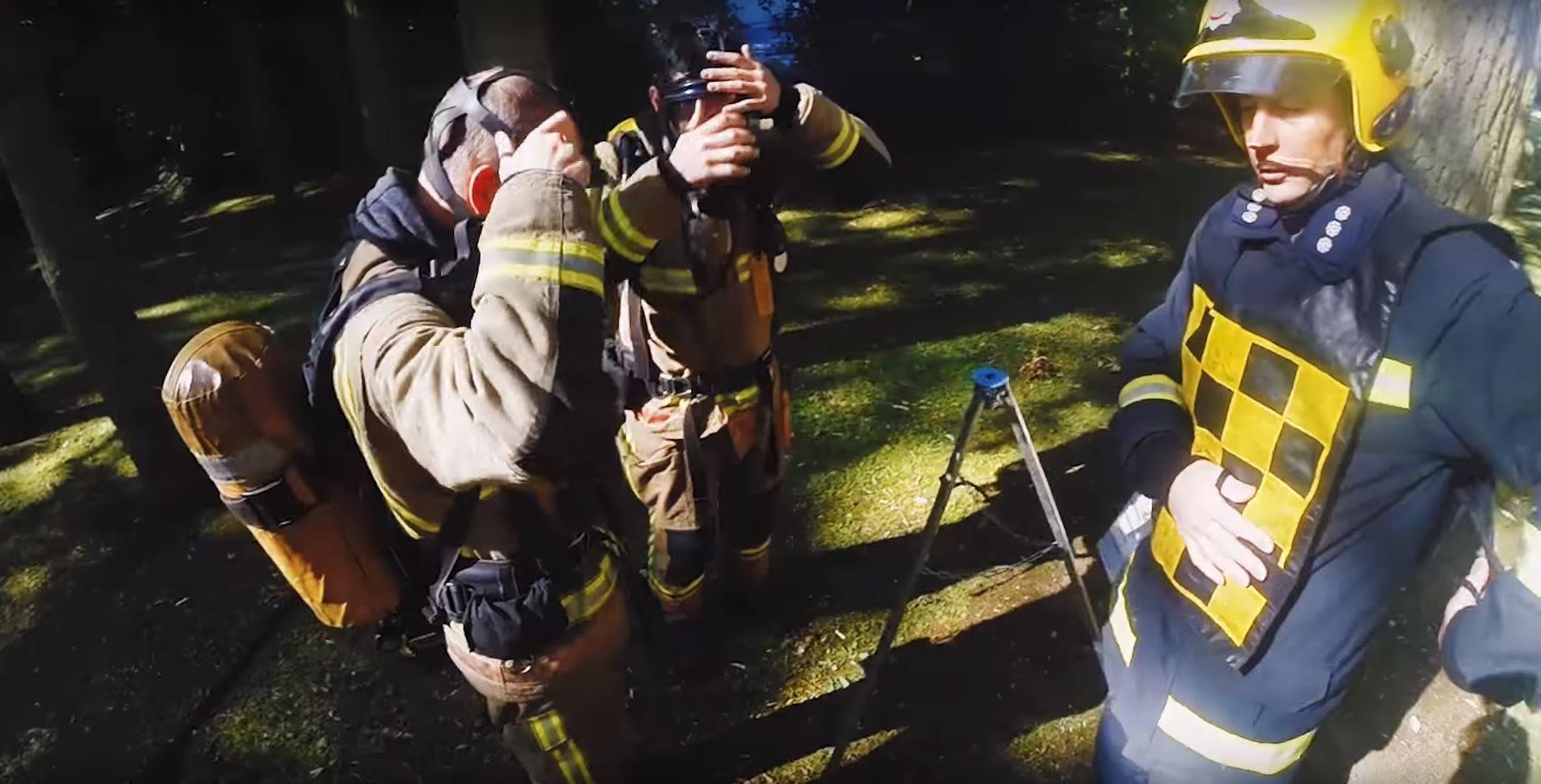 Firefighters in full gear